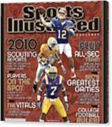 2010 Sec Football Preview Issue Sports Illustrated Cover Canvas Print