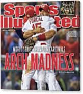 2011 World Series Game 7 - Texas Rangers V St Louis Sports Illustrated Cover Canvas Print