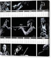 2019 High Resolution R Young Art Musicians Calendar Canvas Print
