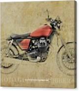 2019 Moto Guzzi V9 Bobber Sport Blueprint Vintage Background Canvas Print