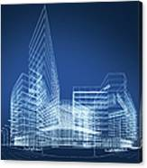 3d Architecture Abstract Canvas Print