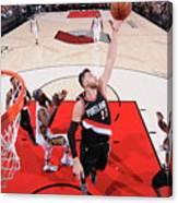 New Orleans Pelicans V Portland Trail Canvas Print