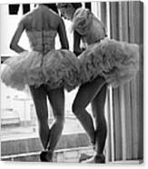 Ballerinas Standing On Window Sill In Canvas Print