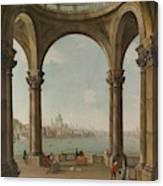 Capriccio With St. Pauls And Old London Bridge Canvas Print