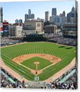 Cleveland Indians V Detroit Tigers Canvas Print