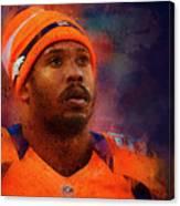 Denver Broncos.von Miller. Canvas Print