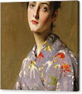 Girl In A Japanese Costume Canvas Print