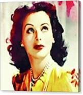 Hedy Lamarr, Vintage Movie Star Canvas Print