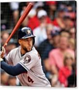 Houston Astros V Boston Red Sox 3 Canvas Print