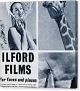Ilford Films Canvas Print