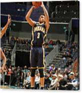 Indiana Pacers V Charlotte Hornets Canvas Print