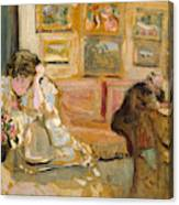 Jos And Lucie Hessel In The Small Salon  Rue De Rivoli  Canvas Print