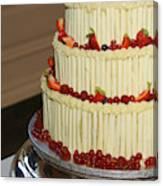 3 Layer Wedding Cake Canvas Print