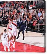 Memphis Grizzlies V Portland Trail Canvas Print