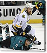 Nashville Predators V San Jose Sharks - Canvas Print