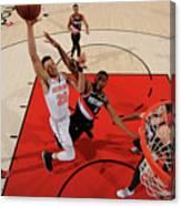 New York Knicks V. Trail Blazers Canvas Print