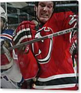 New York Rangers V New Jersey Devils Canvas Print