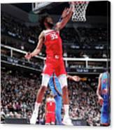 Oklahoma City Thunder V Sacramento Kings Canvas Print