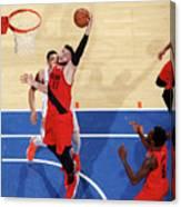 Portland Trail Blazers V New York Knicks Canvas Print