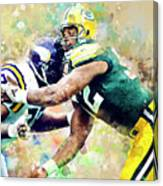 Reggie White. Green Bay Packers. Canvas Print
