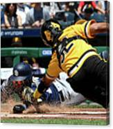 San Diego Padres V Pittsburgh Pirates Canvas Print