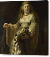 Saskia Van Uylenburgh In Arcadian Costume  Canvas Print