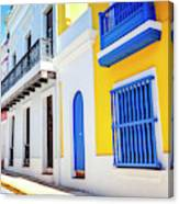 Streets Of San Juan - Puerto Rico Canvas Print