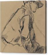 Study Of A Jockey Canvas Print