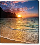 Sunset Over The Na Pali Coast Canvas Print