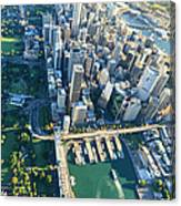 Sydney Downtown - Aerial View Canvas Print
