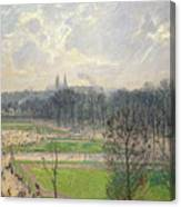 The Garden Of The Tuileries On A Winter Afternoon  Canvas Print