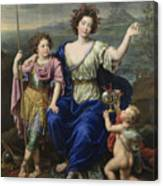 The Marquise De Seignelay And Two Of Her Sons  Canvas Print