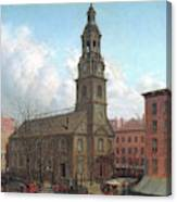 The North Dutch Church  Fulton And William Streets  New York  Canvas Print