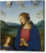 The Virgin And Child With An Angel  Canvas Print
