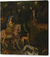 The Vision Of Saint Eustace  Canvas Print