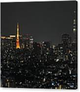 Tokyo Tower And Tokyo Skytree Canvas Print