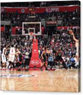 Toronto Raptors V La Clippers Canvas Print