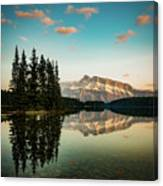 Two Jack Lake And Mount Rundle Canvas Print