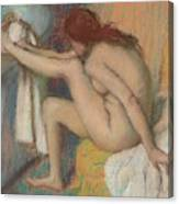 Woman Drying Her Foot  Canvas Print