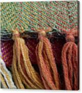 Wool Textile Background Canvas Print