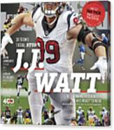 31 Teams, 1 Goal Stop J.j. Watt, 2017 Nfl Football Preview Sports Illustrated Cover Canvas Print
