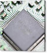 Close-up Of A Circuit Board Canvas Print
