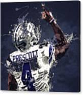 Dallas Cowboys.dak Prescott. Canvas Print
