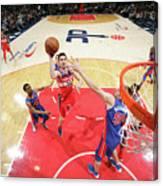 Detroit Pistons V Washington Wizards Canvas Print