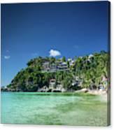 Diniwid Resort Beach View In Tropical Paradise Boracay Island Ph Canvas Print