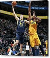 Indiana Pacers V Utah Jazz Canvas Print