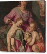 Madonna And Child With The Infant Saint John The Baptist Canvas Print