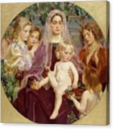 Madonna Of Giverny  Canvas Print