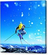 Man Skiing Canvas Print