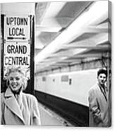 Marilyn In Grand Central Station 4 Canvas Print